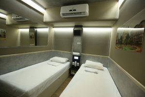 Opção na Rodoviária de Recife ajuda os viajantes a recuperar o sono entre uma viagem e outra