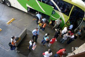 Paradas do ônibus durante a viagem também podem ser monitoradas. Foto: Rogério Machado/SMCS (arquivo)
