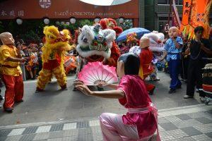 Dança do Dragão na Festa do Ano Novo Chinês 2018, na Liberdade, região central de São Paulo
