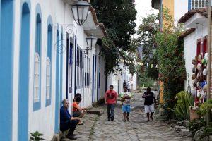 Paraty, no litoral sul do Rio de Janeiro, é bastante procurada por seus atrativos históricos