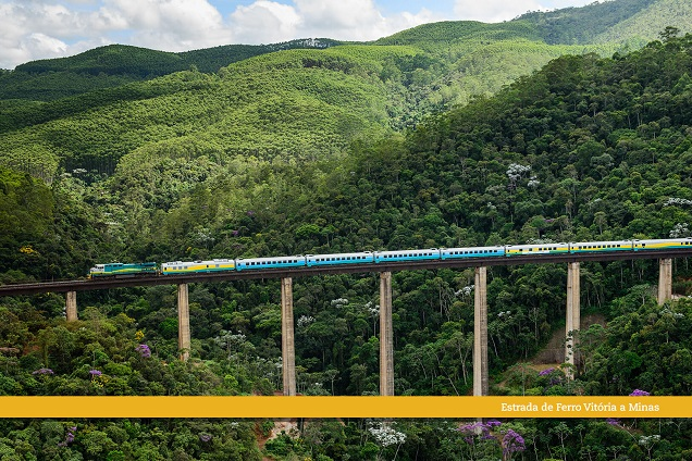 Trecho entre Vitória e Belo Horizonte conta com paisagens belíssimas. Foto: Divulgação/Vale.