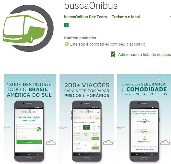 buscaonibus é uma plataforma de busca que conta com um app que ajuda o viajante a encontrar passagens de ônibus no Brasil e América do Sul