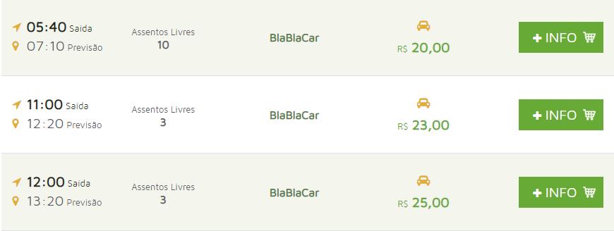 Viaje também de carona com o buscaOnibus por meio da parceria com a Blablacar