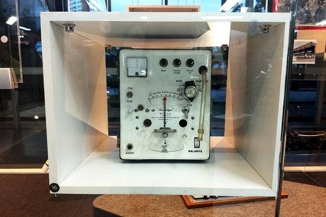 Aparelho antigo usado para bafômetro