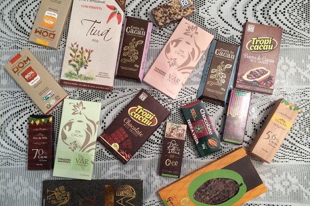 Chocolates produzidas a partir das fazendas de Ilhéus, que têm foco na preservação ambiental
