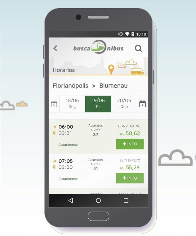 Viajantes ganharam ainda mais agiliidade com o app do BuscaOnibus