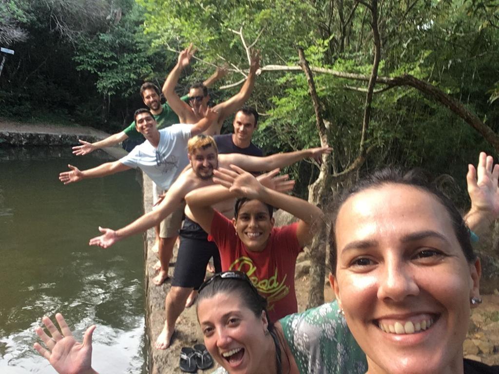 Equipe do BuscaOnibus curtindo um day-off no meio da natureza em Florianópolis
