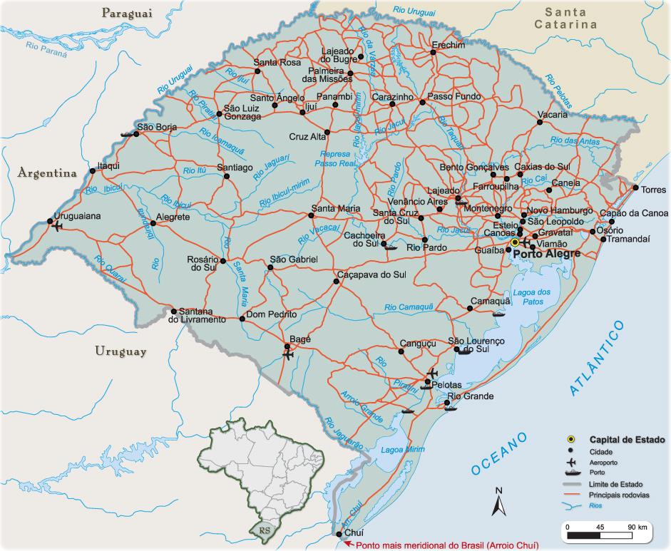 Você encontra mais de 1300 trechos de viagens de ônibus dentro do Rio Grande do Sul