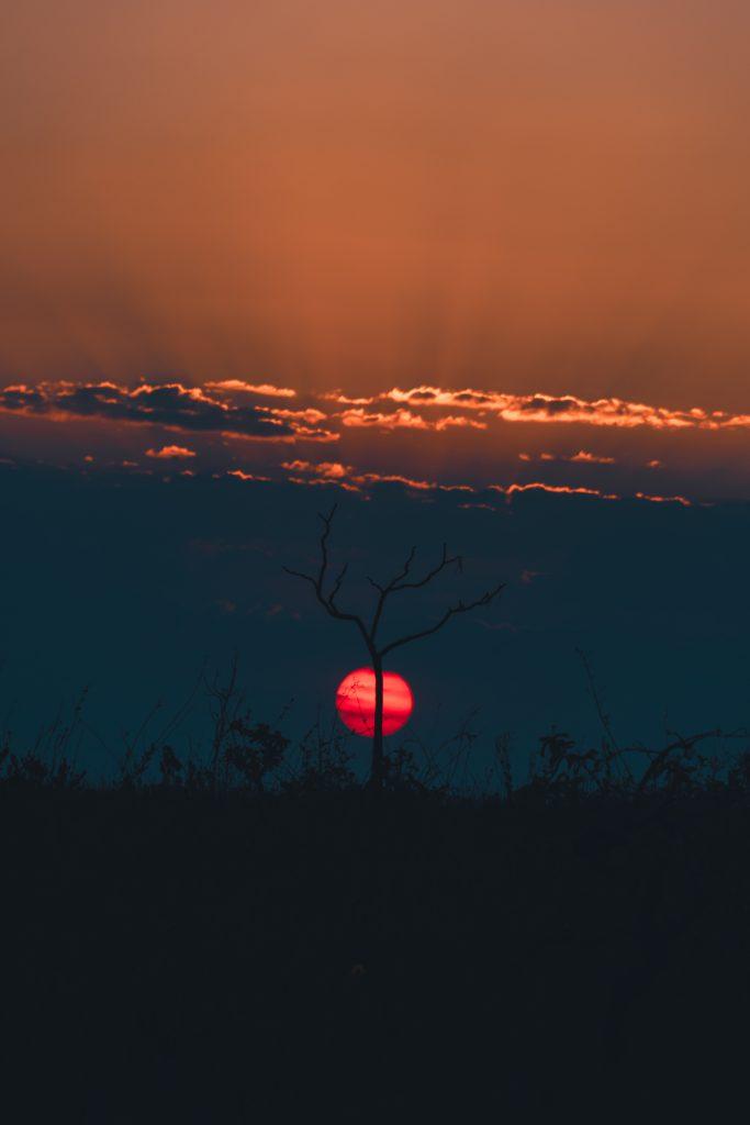 Pôr do sol na Chapada dos Veadeiros é um espetáculo imperdível da natureza