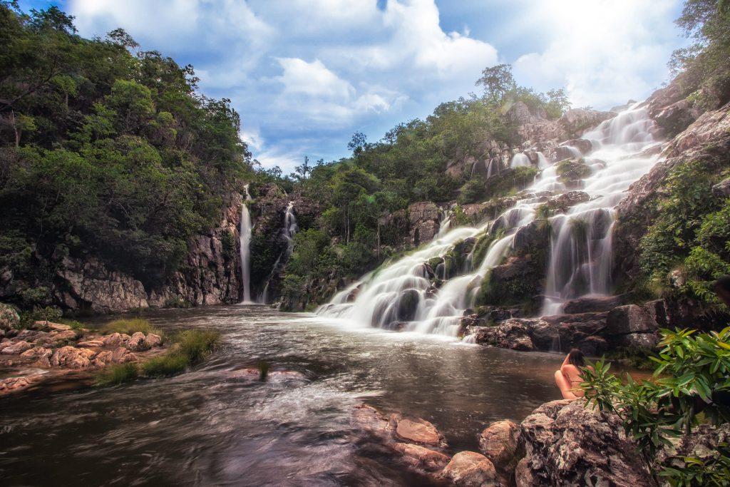 Cachoeira da Capivara forma um poço divino para banho (Crédito Mundo Sem Muros).