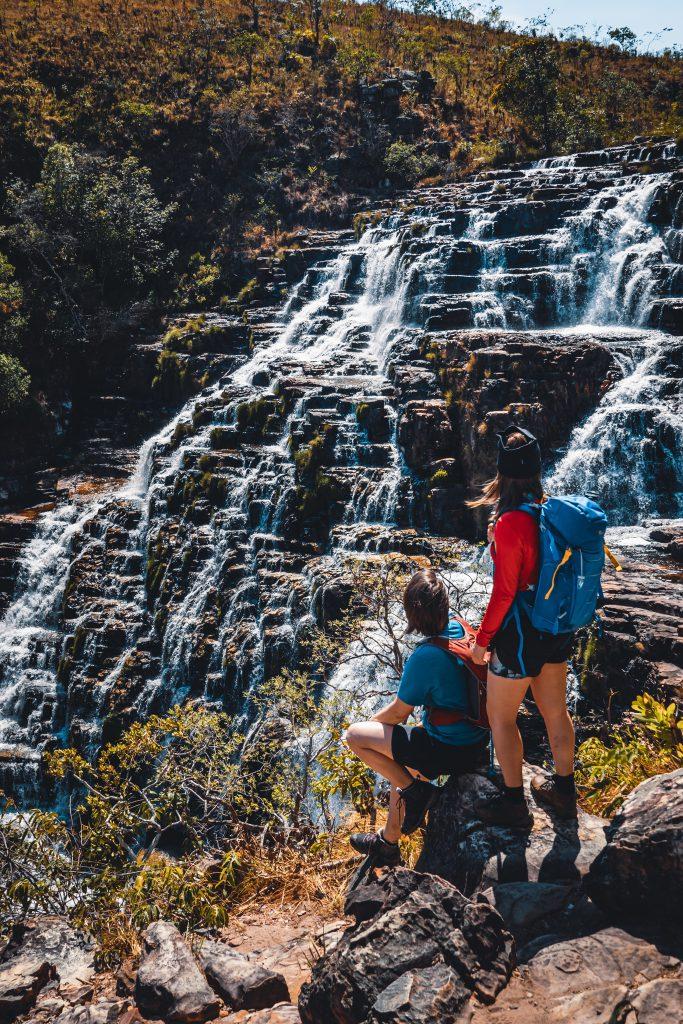 Diversas quedas se formam ao longo da Cachoeira dos Couros (Crédito Mundo Sem Muros).