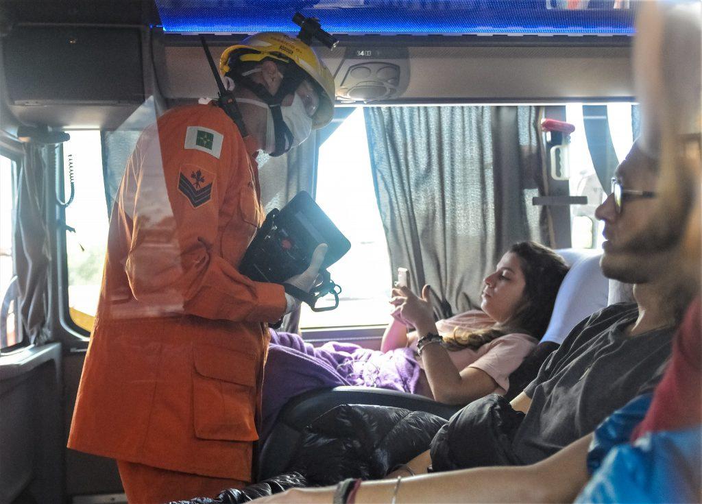 Coronavírus: viagem de ônibus